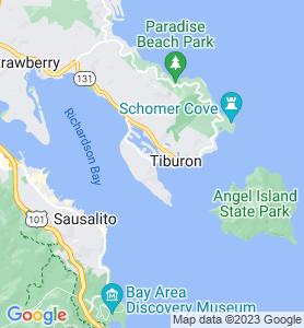 Belvedere CA Map