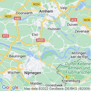 Werkgebied van onze bestrijder in Bemmel