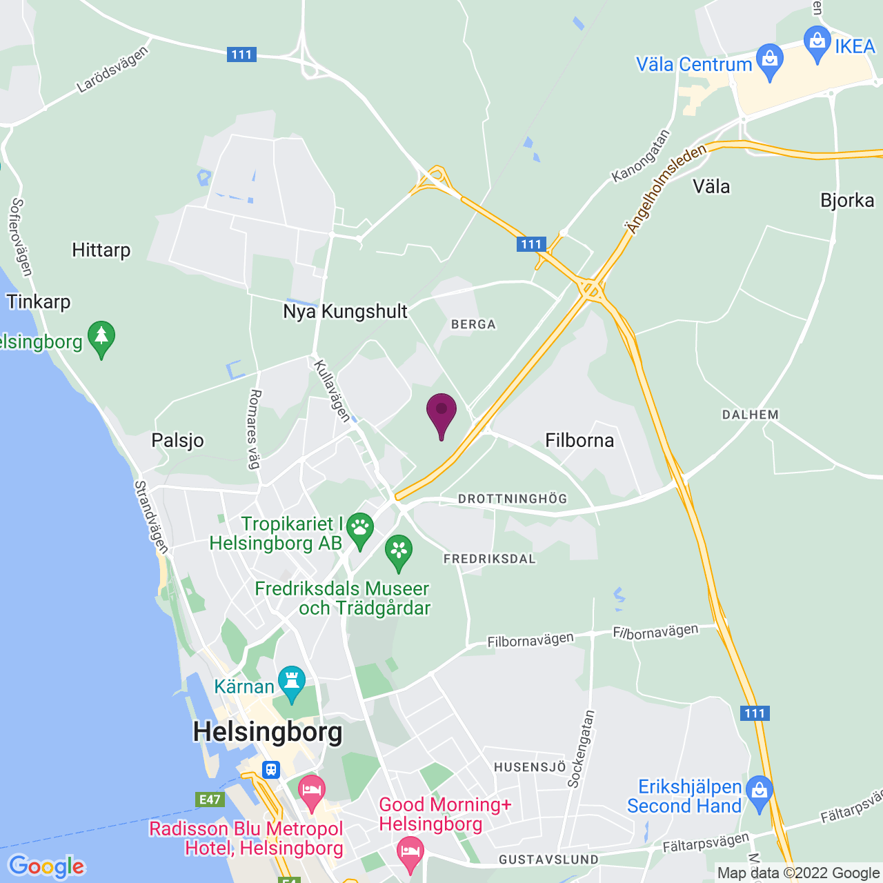 Map of Berga Allé 1