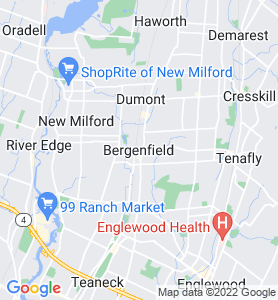 Bergenfield NJ Map