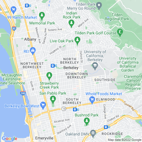 Map of Berkeley, CA