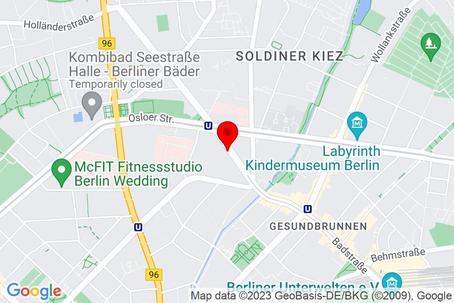 Google Map of Berlin, Schwedenstr.14