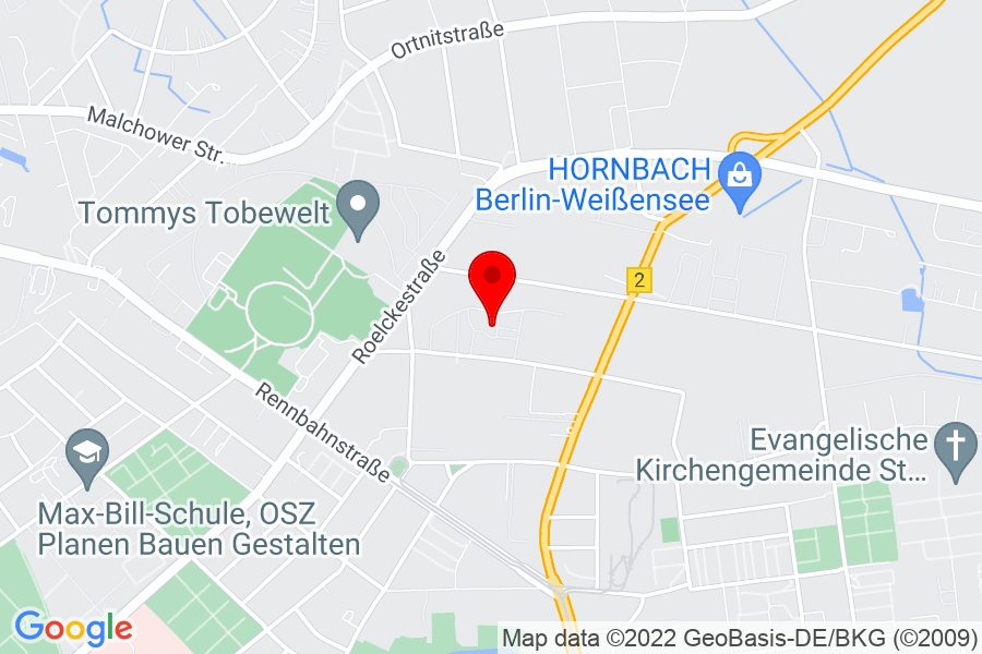 Google Map of Berlin, gehringstr.49