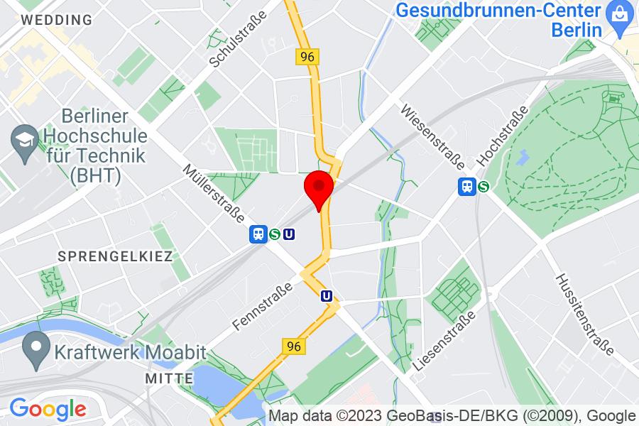 Google Map of Berlin, Reinickendorferstr.113