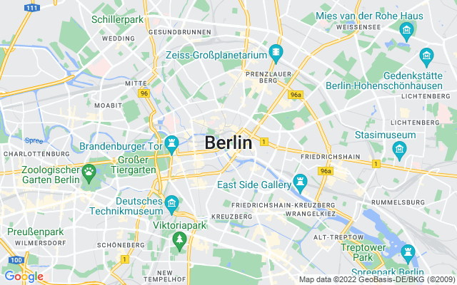 Show map of Berlin
