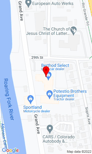 Google Map of Berthod Motors Inc. 2914 Grand Avenue, Glenwood Springs, CO, 81602