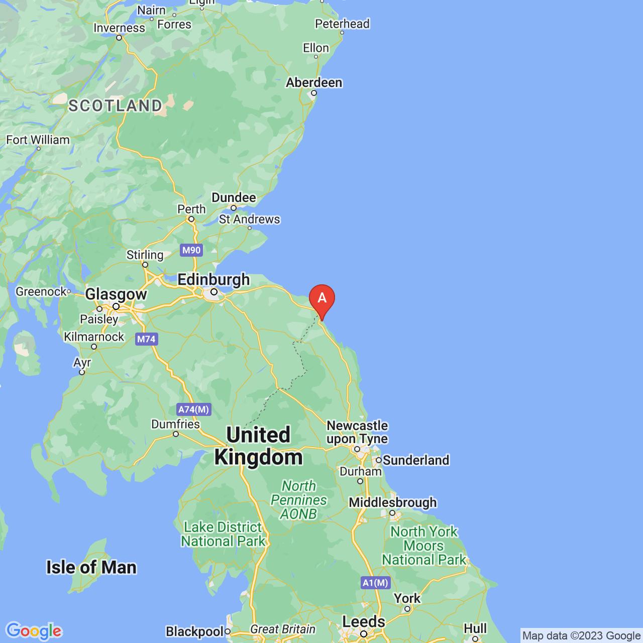 Berwick-upon-Tweed, England Map