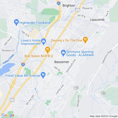 Map of Bessemer, AL