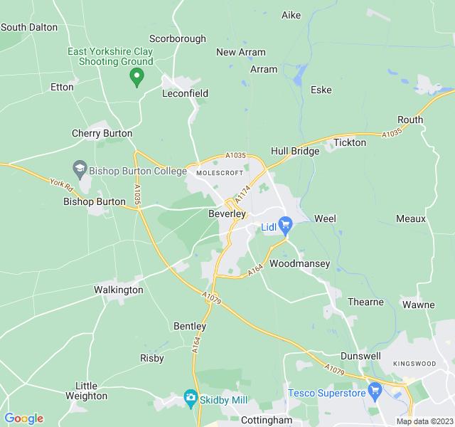 Website Designer Beverley Google map of location