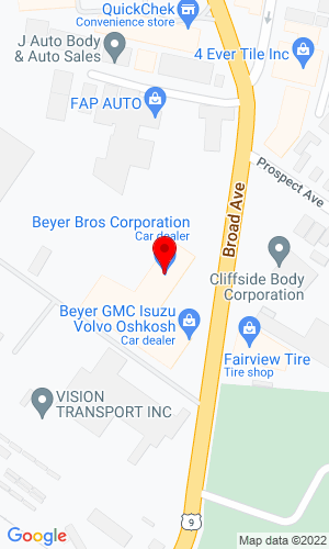Google Map of Beyer Bros. Corp. 109 Broad Avenue, Fairview, NJ, 07022
