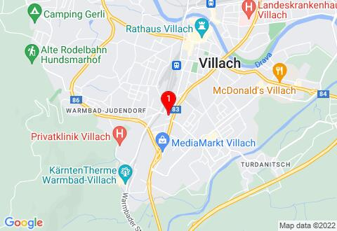 Google Map of Bichlweg 6, 9500 Villach