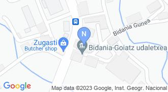 Bidania-Goiazko udaletxea mapa