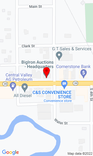 Google Map of Big Iron Online Auctions 210 Beaver Street, St. Edward, NE, 68660