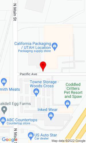 Google Map of Bigge Equipment Co. 25 East Pacific Avenue, N Salt Lake City, UT, 84054,