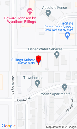 Google Map of Billings Kubota 5548 Holiday Avenue, Billings, MT, 59101,