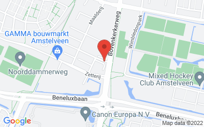 Map of Binderij 7, Amstelveen, Nederland