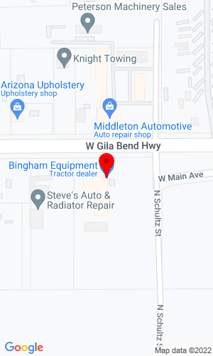 Google Map of Bingham Equipment Co. 815 W Gila Bend Hwy, Casa Grande, AZ, 85122