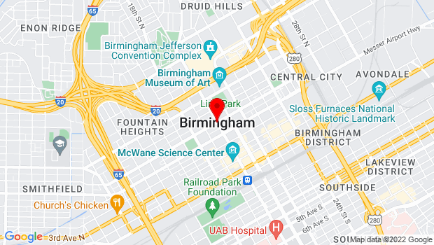 Google Map of Birmingham, AL