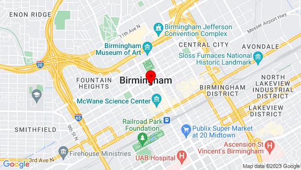 Google Map of Birmingham, AL 35203