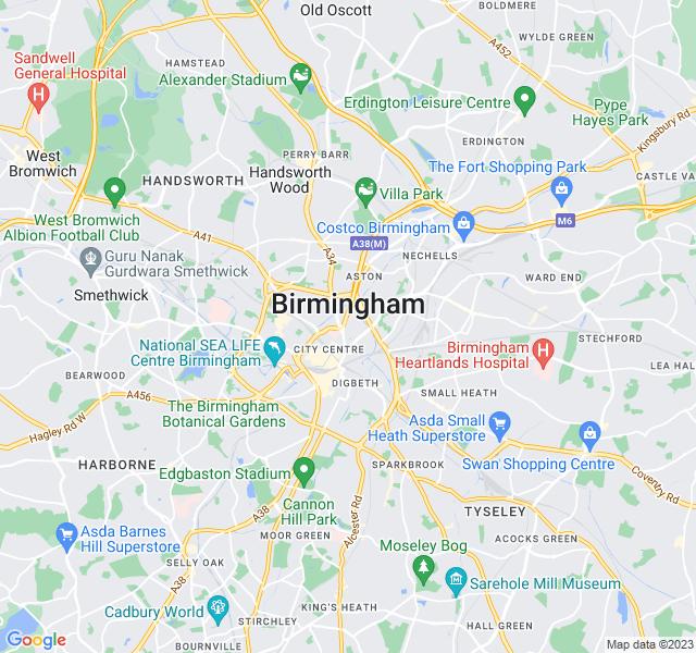 Website Designer Birmingham Google map of location