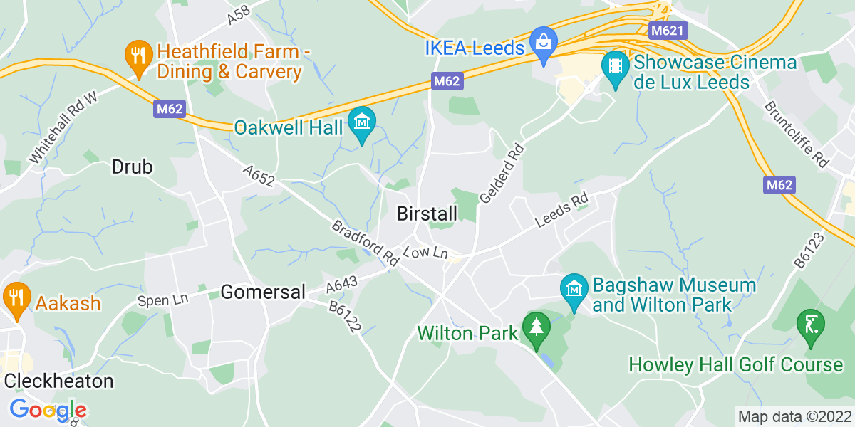 Map: Solution Architect job role in Birstall