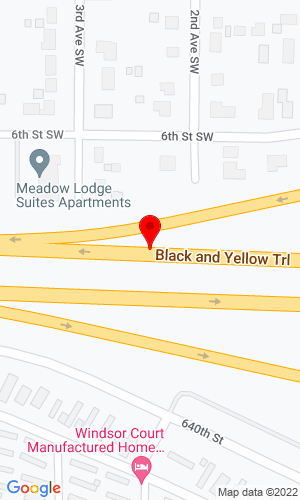 Google Map of Bishop and Wachholz Highway 14 East, Kasson, MN, 55944