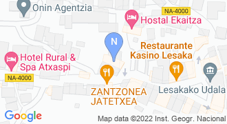 LABORAL KUTXA LESAKA mapa