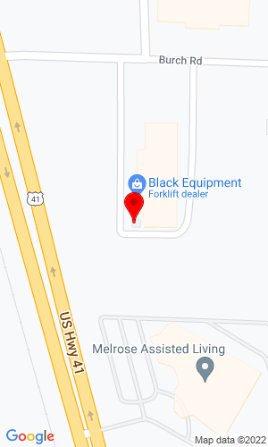 Google Map of Black JCB 1187 Burch Drive, Evansville, IN, 47725