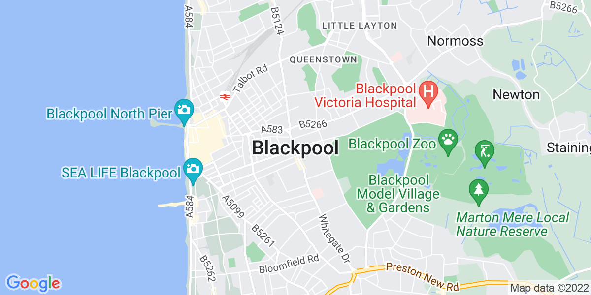 Map: Customer Service Representative - Inbound job role in Blackpool
