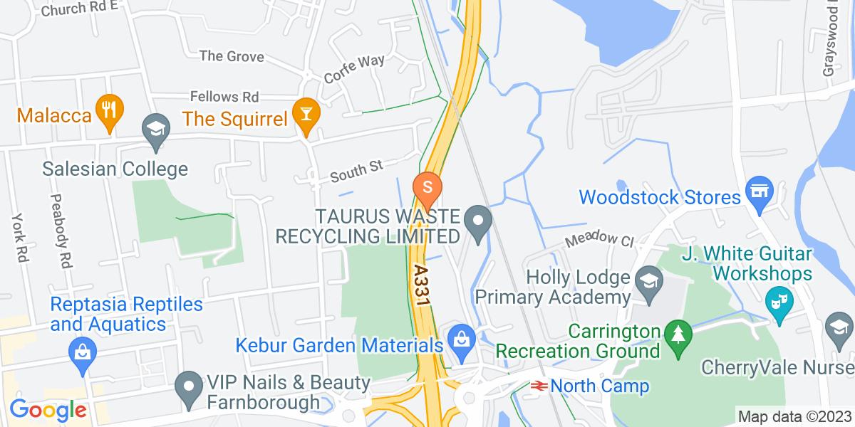 Google Map of Blackwater Valley Road Camberley GU15 3YN
