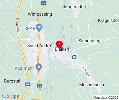 Routenplaner zu Blaiken 54, 9433 Sankt Andrä, Austria