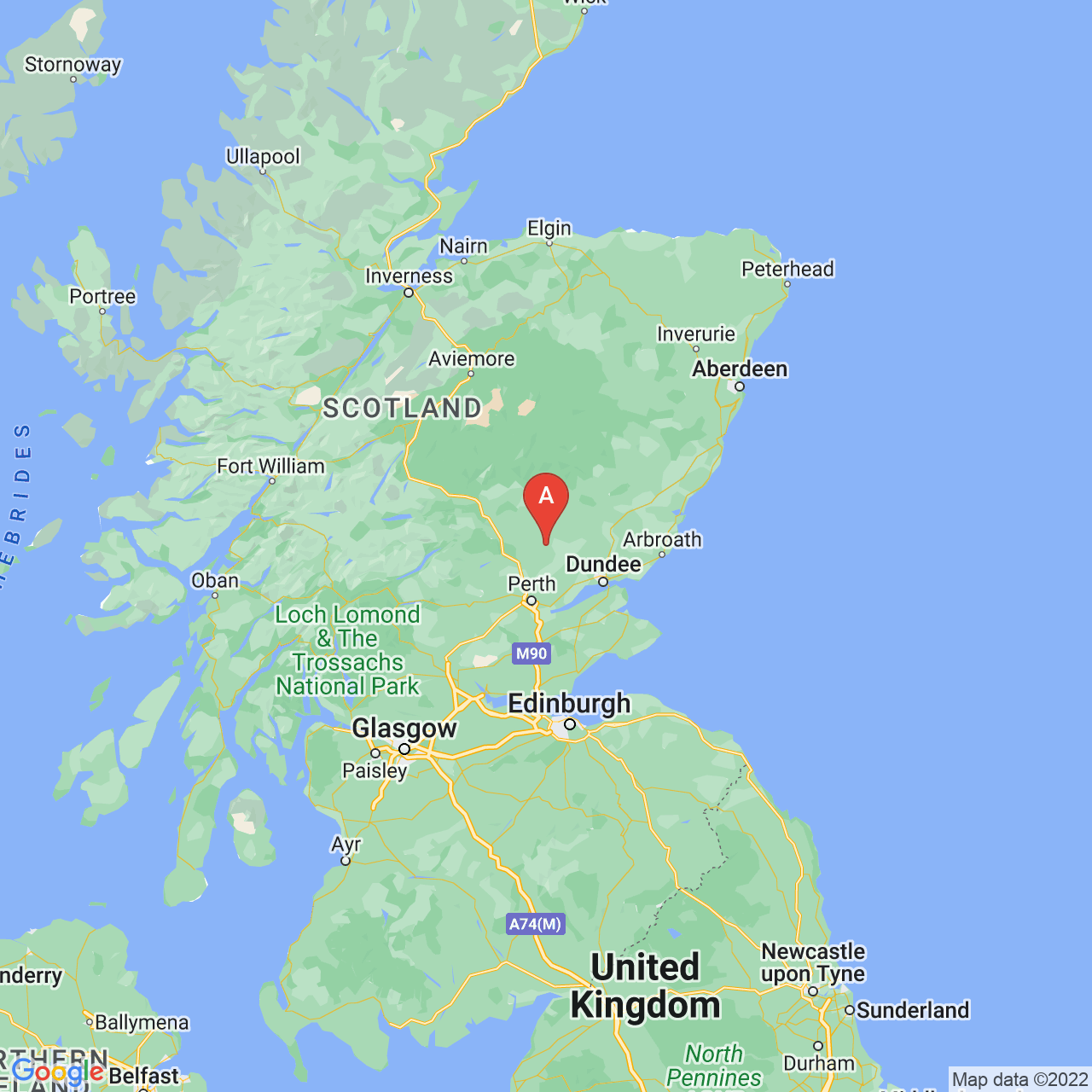 Blairgowrie, Scotland Map
