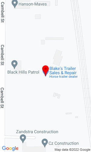 Google Map of Blake's Trailer Sales and Repair 3602 Cambell Street, Rapid City, SD, 57701