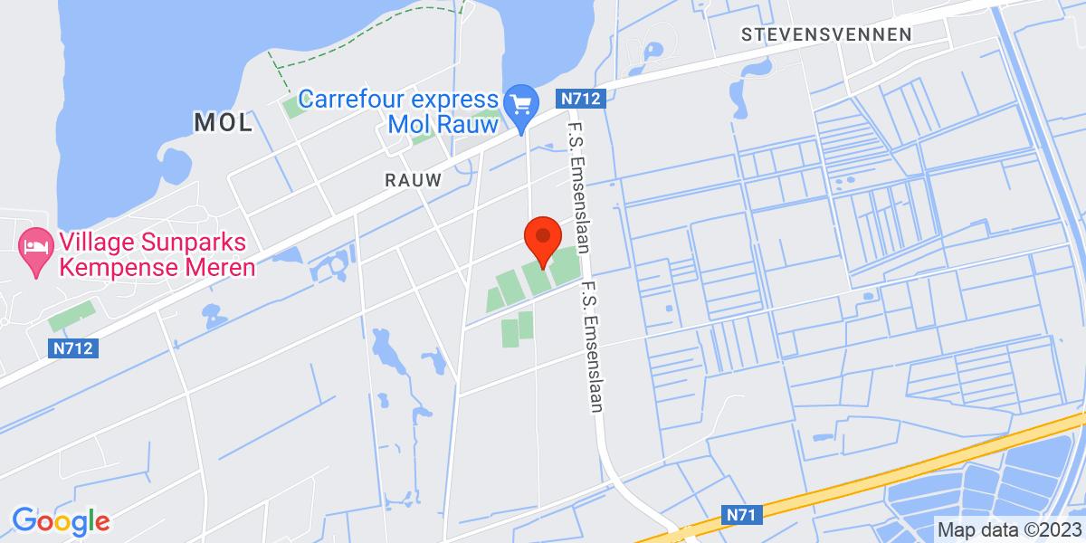 Google Map of Blekestraat 35 Mol