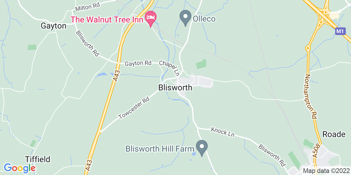 Map: Marketing Manager position in Blisworth