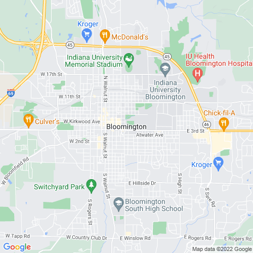 Map of Bloomington, IN