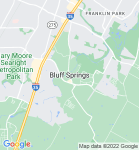 Bluff Springs TX Map