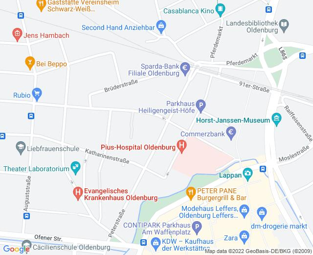 Google Map of Blumenstraße 1 26121 Oldenburg