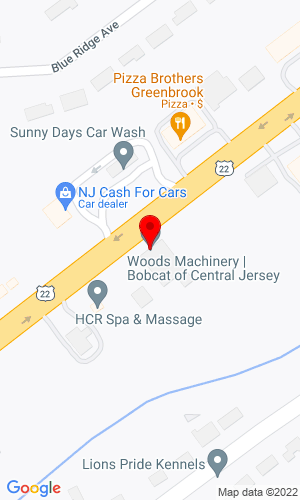 Google Map of Bobcat of Central Jersey 45 Route 22 East, Green Brook, NJ, 08812,