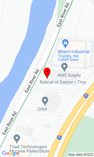 Google Map of Bobcat of Dayton 2850 East River Road, Dayton, OH, 45439,