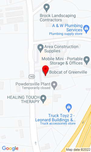 Google Map of Bobcat of Greenville 2512 River Road, Piedmont, SC, 29673