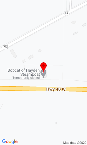 Google Map of Bobcat of Hayden-Steamboat 11730 East Highway 40, Hayden, CO, 81639