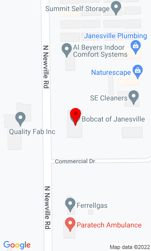 Google Map of Bobcat of Janesville 4000 Newville Road, Janesville, WI, 53545