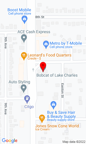Google Map of Bobcat of Lake Charles 1801 Gertsner Memorial Boulevard, Lake Charles, LA, 70601-6736,