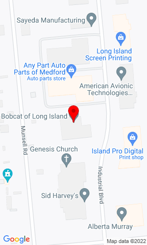 Google Map of Bobcat of Long Island / Medford 24 Industrial Boulevard, Medford, NY, 11763