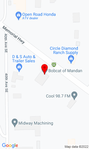 Google Map of Bobcat of Mandan 4209 Memorial Highway, Mandan, ND, 58554