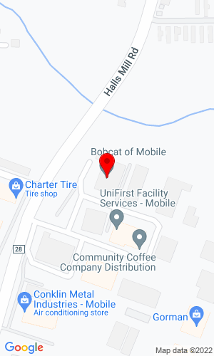 Google Map of Bobcat of Mobile 1951 W. I-65 Service Road North, Mobile, AL, 36618,
