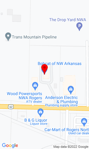 Google Map of Bobcat of Northwest Arkansas 2735 West Hudson Road, Rogers, AR, 72756