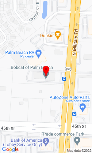 Google Map of Bobcat of Palm Beach 5731 North Military Trail, West Palm Beach, FL, 33407