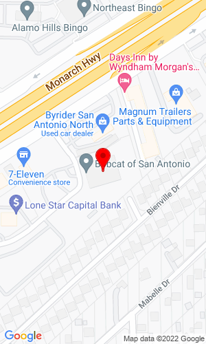Google Map of Bobcat of San Antonio 11146 I.H. 35 North, San Antonio, TX, 78233